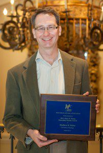 2014 UAA Alma H Young Emerging Scholar Award Recipient, Matthew Weber (Univ. of Michigan)